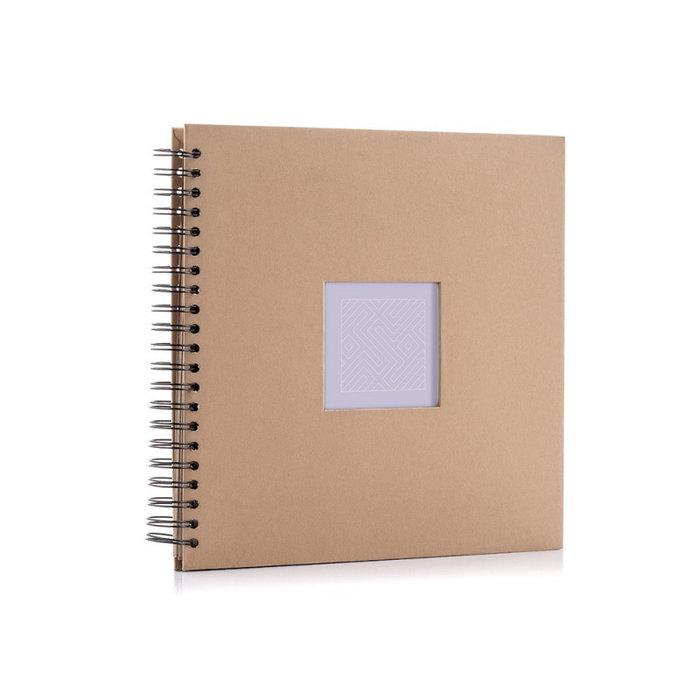 Album anillas cartulina kraft 25x25 50 paginas