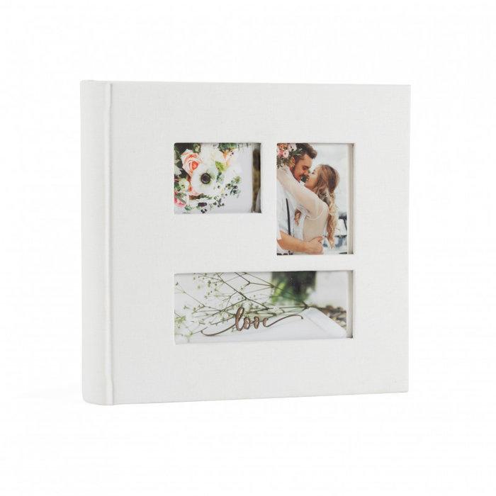 Album blanco 3 ventanas en portada  200 fotos 11x15