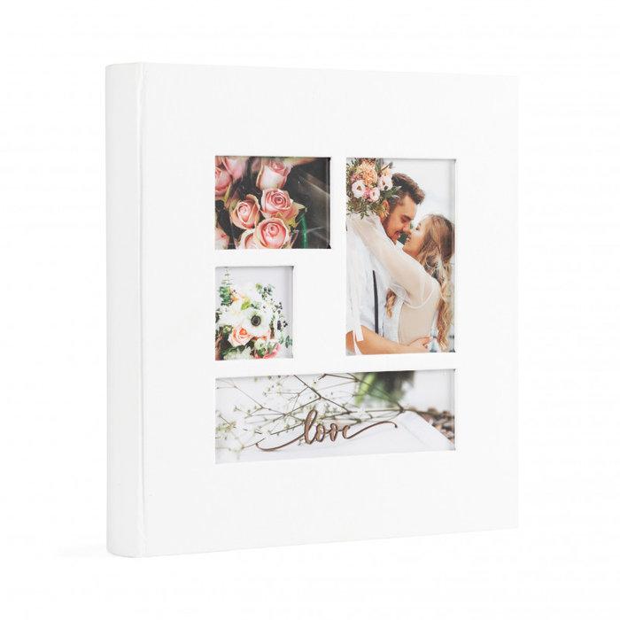 Album cartulina 29x3, 60 paginas crema 4 ventanas en portada
