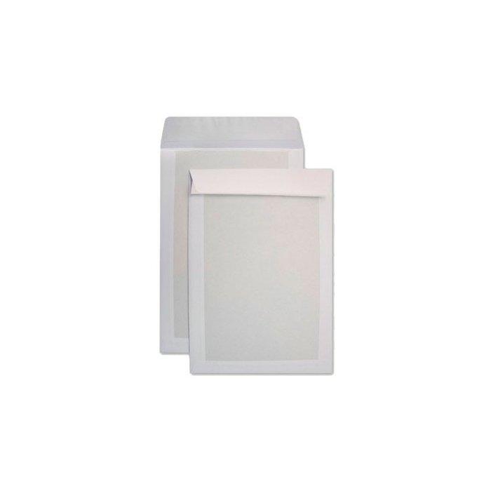 Sobre blanco respaldo de carton 450g offset 100grs