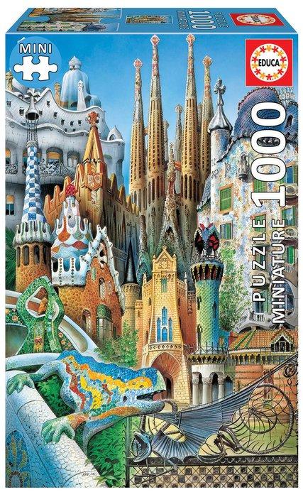 Puzzle educa 1000 piezas gaudi, collage miniatura