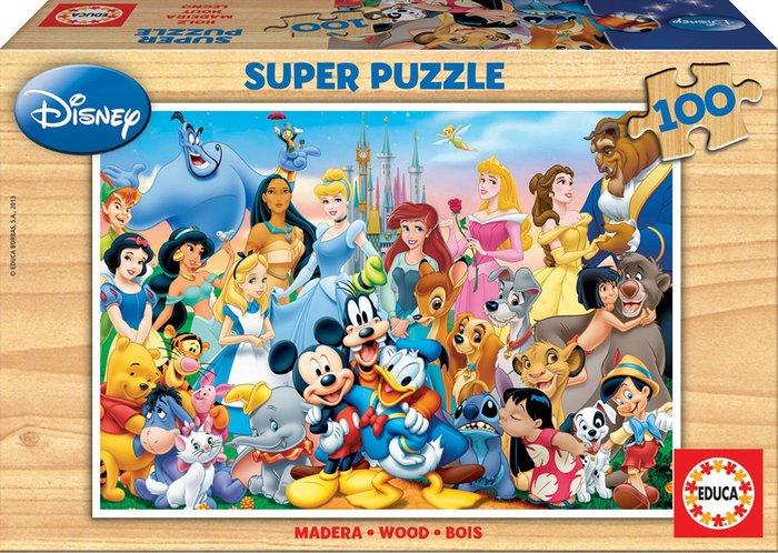 Puzzle 100 piezas el maravilloso mundo de disney