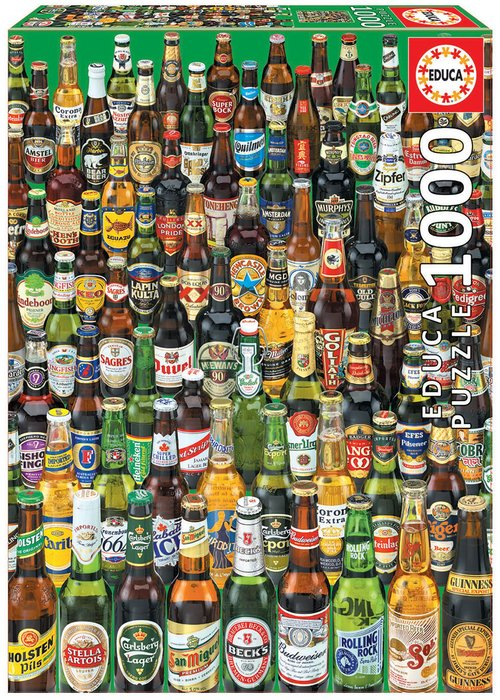 Puzzle educa 1000 piezas cervezas