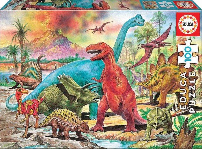 Puzzle 100 piezas dinosaurios