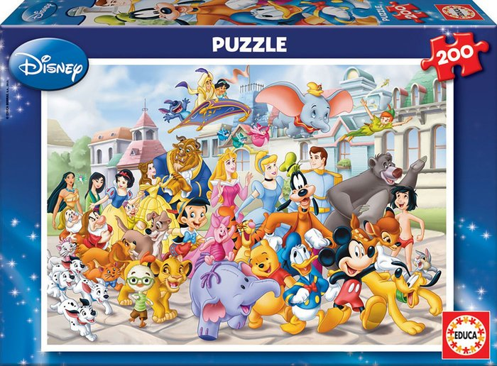 Puzzle 200 piezas desfile disney