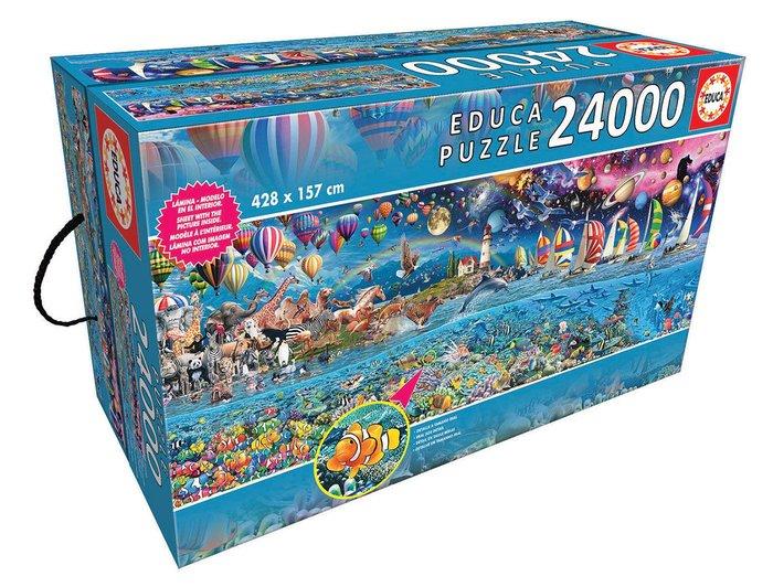 Puzzle educa 24000 piezas vida, el mayor puzzle