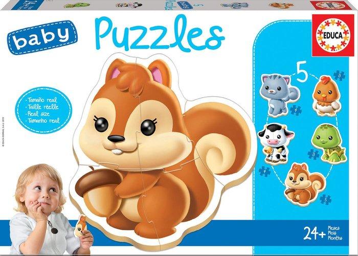 Puzzle educa infantil animales