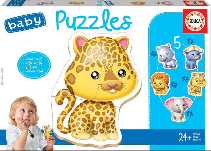 Puzzle educa infantil animales salvajes intantil