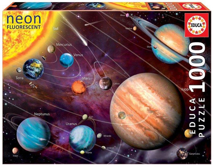 Puzzle educa 1000 piezas neon sistema solar