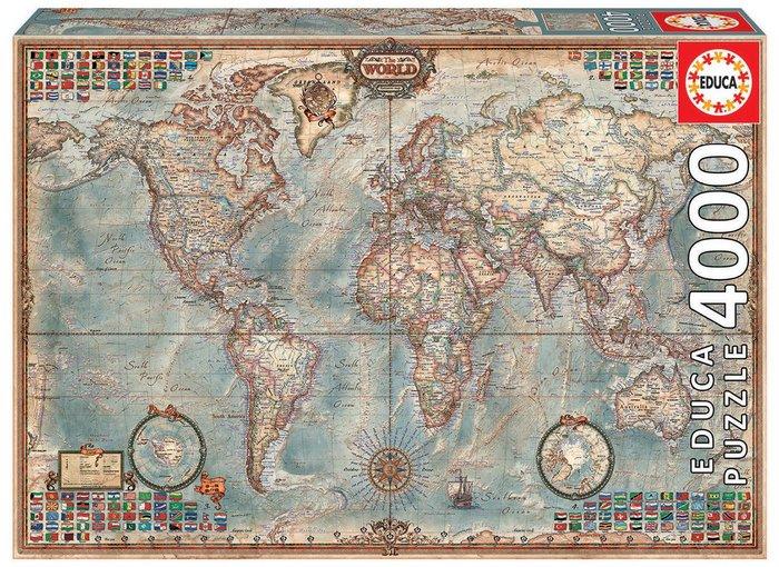 Puzzle educa 4000 piezas el mundo, mapa politico