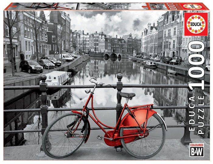 Puzzle educa 1000 pzs amsterdam coloured black & white