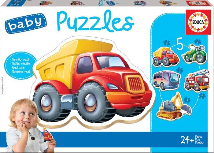 Puzzle educa infantil vehiculos