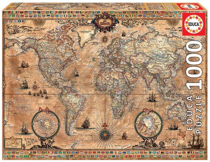 Puzzle educa 1000 piezas mapamundi