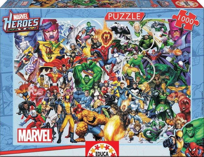 Puzzle educa 1000 piezas los heroes de marvel