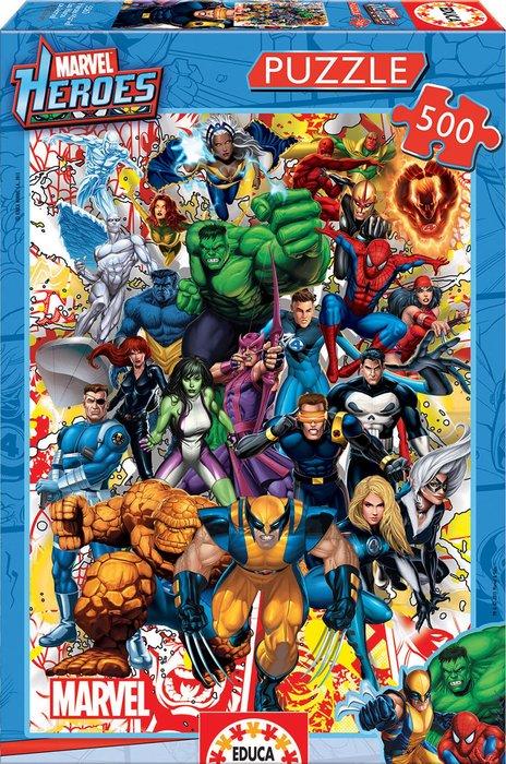 Puzzle educa 500 piezas heroes marvel