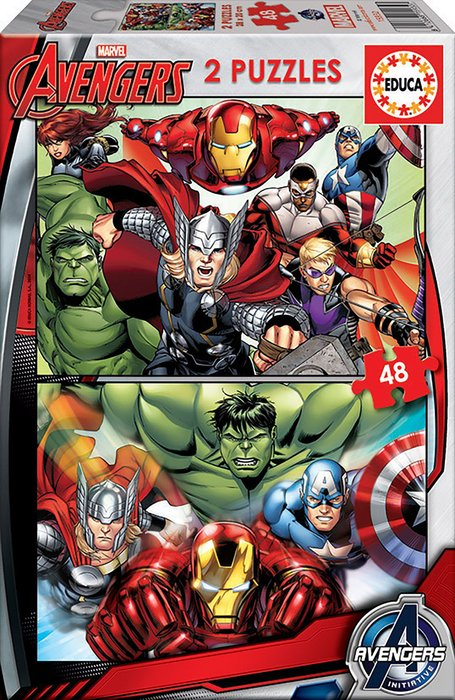 Puzzle 2x48 piezas avengers