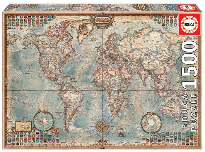Puzzle educa 1500 piezas el mundo, mapa politico