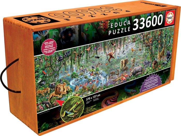 Puzzle educa 33600 piezas vida salvaje