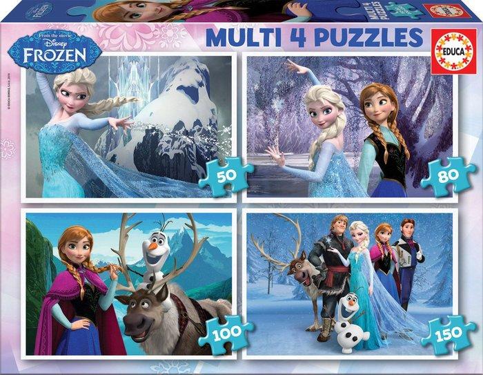Multi 4 puzzles frozen 50-80-100-150