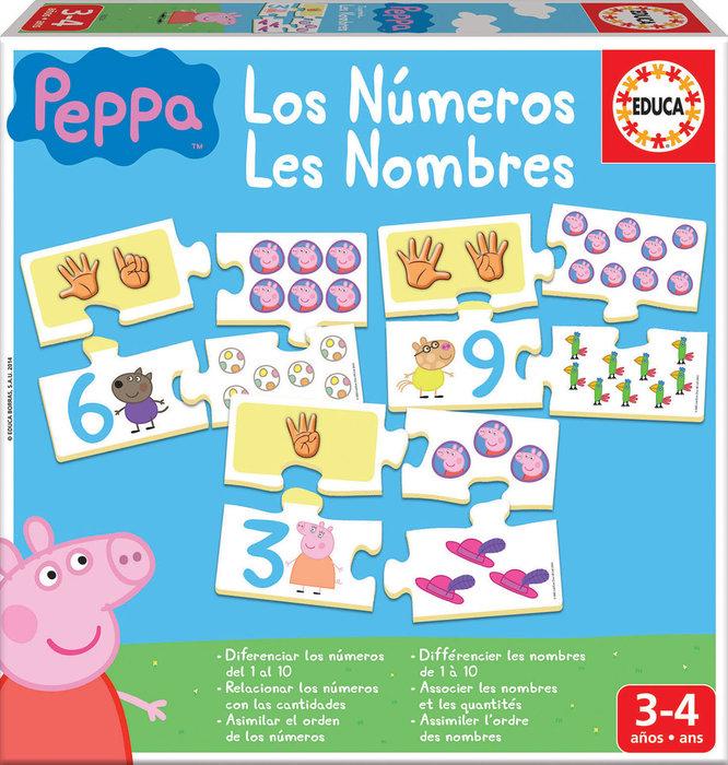 Juego aprendo los numeros peppa pig