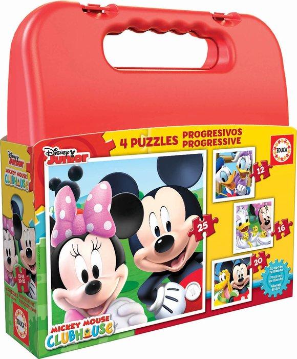 Maleta puzzles progresivos mickey mouse 12-16-20-25