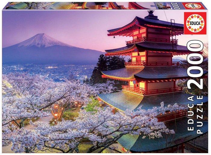 Puzzle educa 2000 piezas monte fuji, japon
