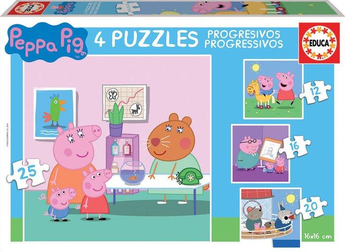 Puzzle progresivos peppa pig 12-16-20-25