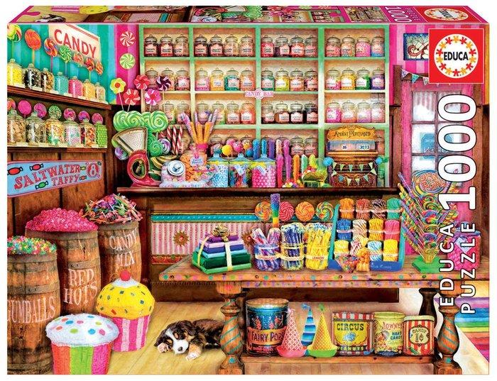 Puzzle educa 1000 piezas tienda de dulces