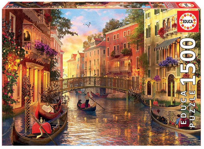 Puzzle educa 1500 piezas atardecer en venecia