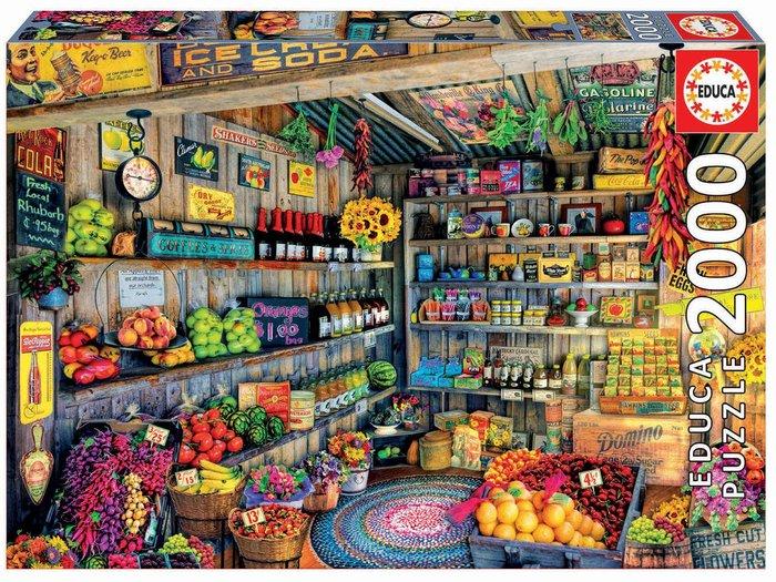 Puzzle educa 2000 piezas tienda de comestibles