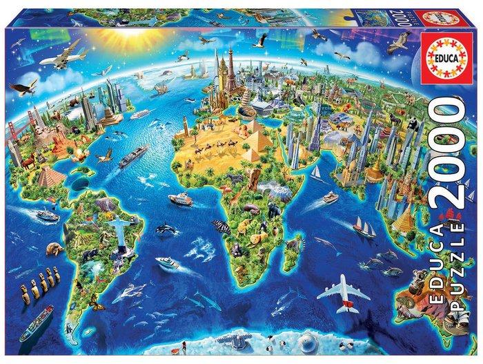 Puzzle educa 2000 piezas simbolos del mundo