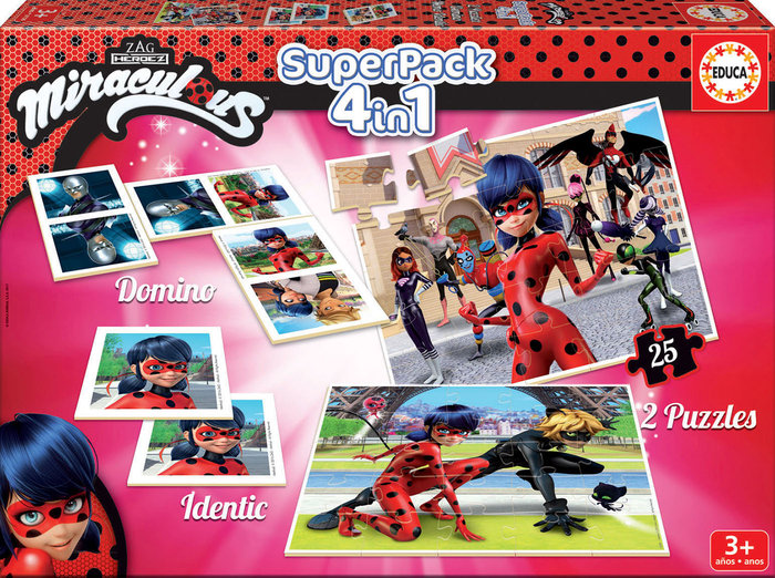 Juego educa super pack miraculous ladybug