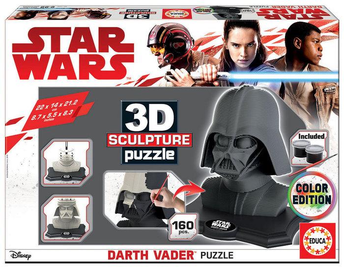 Puzzle educa figura darth vader 3d