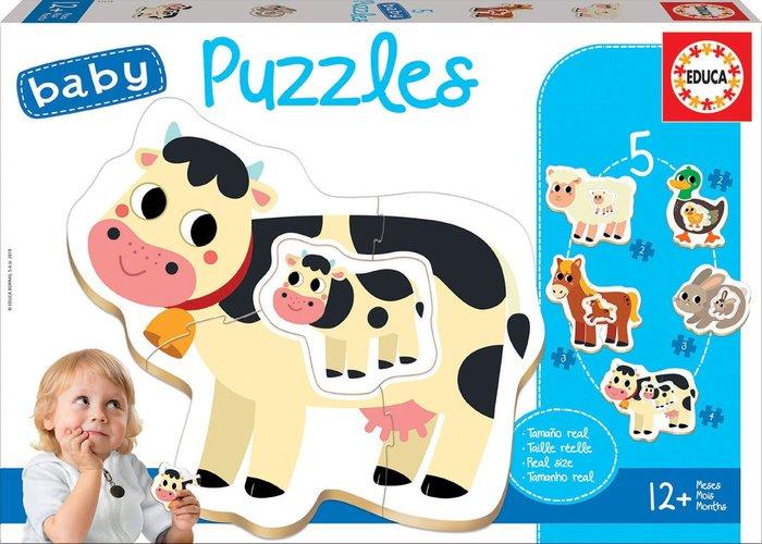 Puzzle educa infantil la granja +12 meses