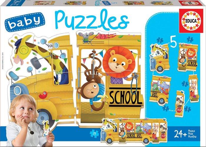 Puzzle educa infantil school bus/ animals