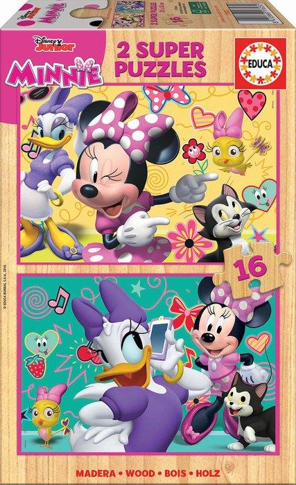 Puzzle 2x16 piezas minnie happy helpers