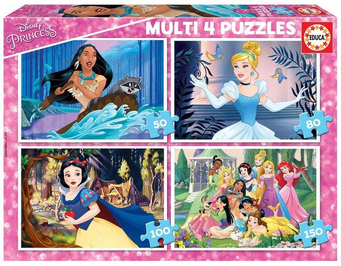 Multi 4 puzzles disney princess 50-80-100-150