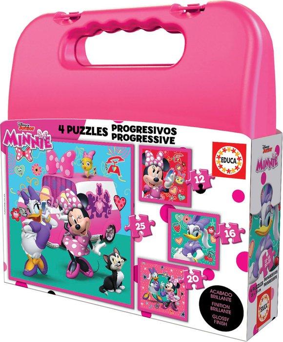 Maleta puzzles progresivos minnie happy helpers 12-16-20-25