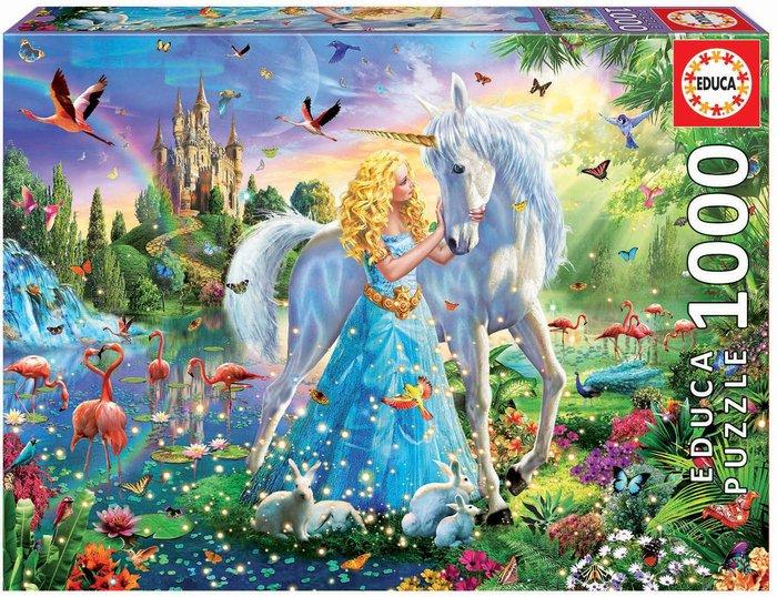 Puzzle educa 1000 piezas la princesa y el unicornio