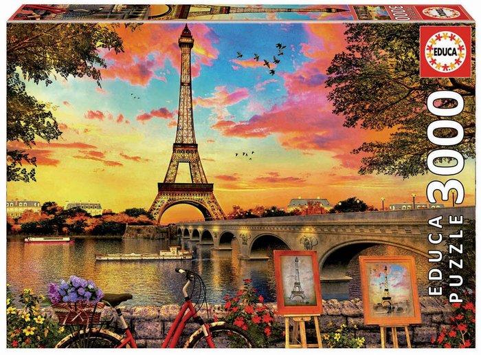 Puzzle educa 3000 puesta de sol en paris