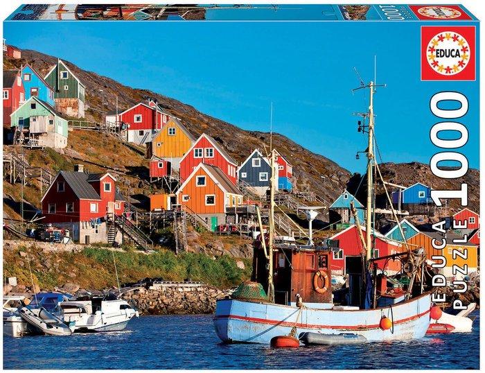 Puzzle educa 1000 piezas casas nordicas