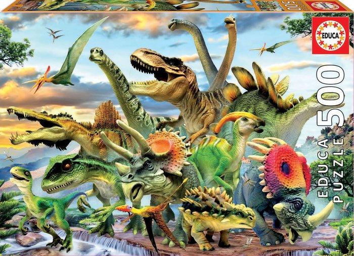 Puzzle educa 500 piezas dinosaurios