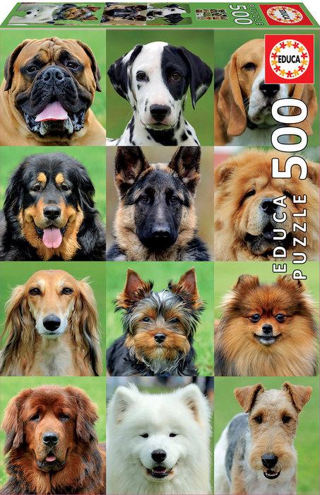 Puzzle educa 500 piezas collage de perros