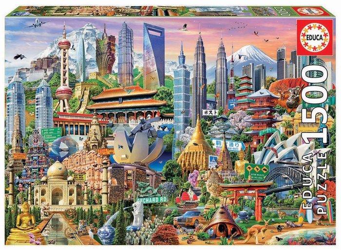 Puzzle educa 1500 piezas simbolos de asia