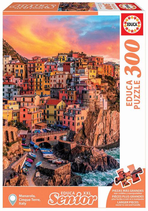 Puzzle educa 300 piezas manarola cinque terre italia adulto