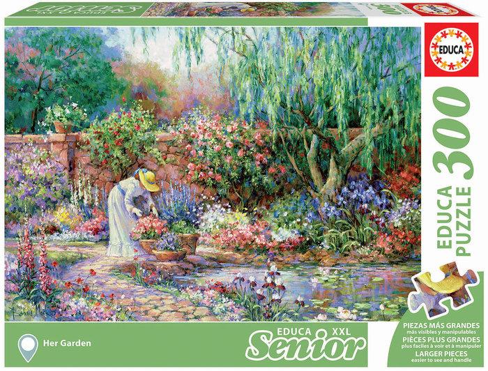 Puzzle educa 300 piezas senior su jardin adulto piezas xxl