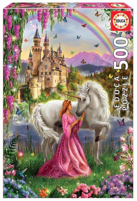 Puzzle educa 500 piezas hada y unicornio
