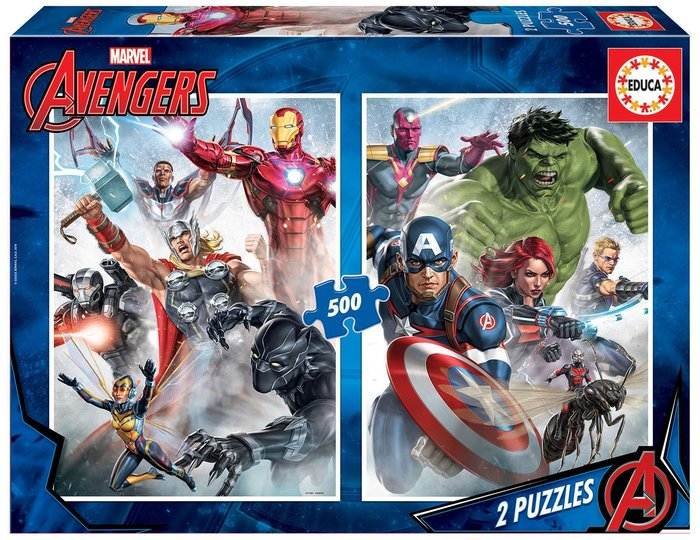 Puzzle educa 2 x 500 piezas los vengadores