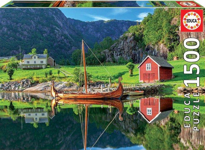 Puzzle educa 1500 piezas barco vikingo