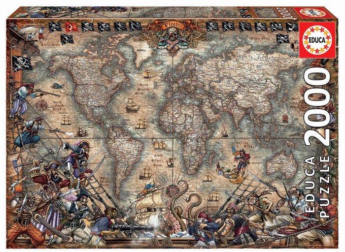 Puzzle educa 2000 piezas mapa de piratas